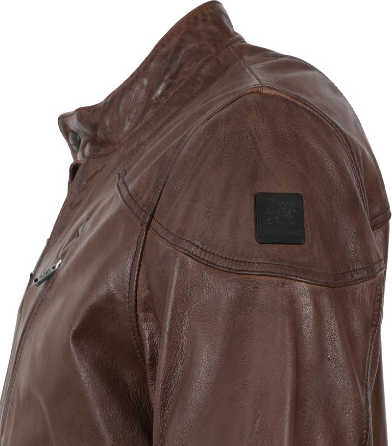Vanguard Brakeride Leather Jacket Brown photo 5