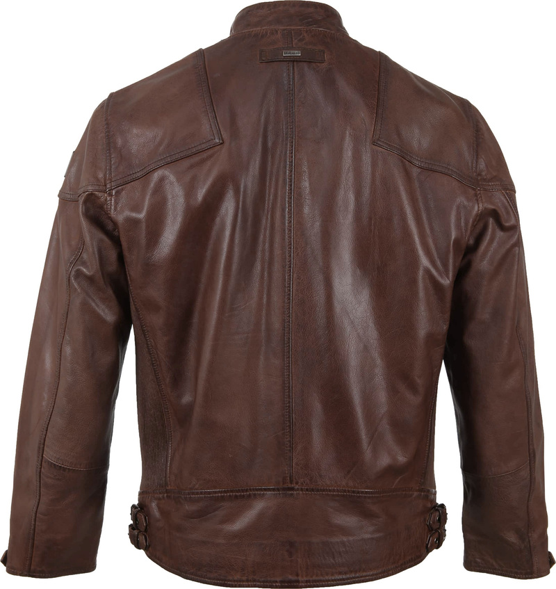 Vanguard Brakeride Leather Jacket Brown photo 6