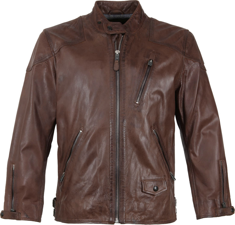 Vanguard Brakeride Leather Jacket Brown photo 0