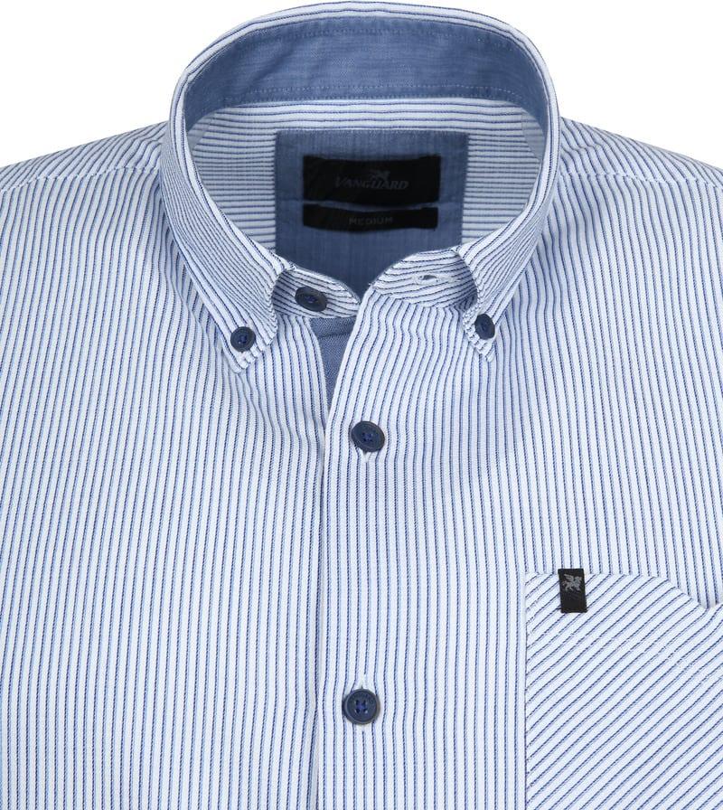Vanguard Hemd Streifen Blau Foto 1