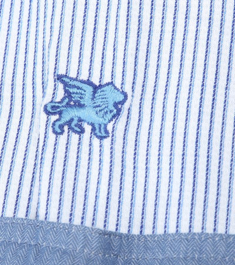 Vanguard Hemd Streifen Blau Foto 4