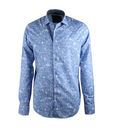 Vanguard Overhemd Blauw Prints  online bestellen | Suitable
