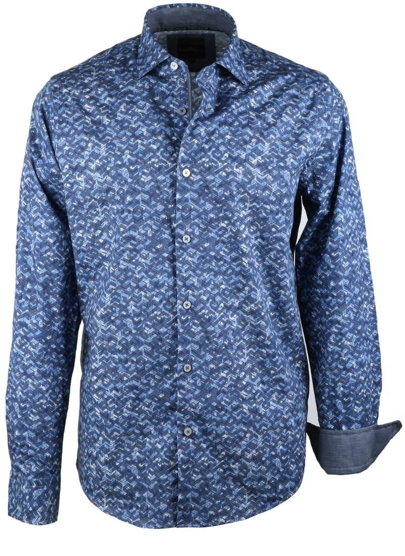 Vanguard Overhemd Blauwe Print  online bestellen | Suitable
