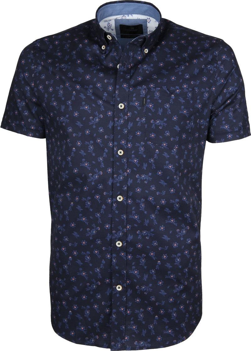 Vanguard Overhemd Bloemen Donkerblauw foto 0