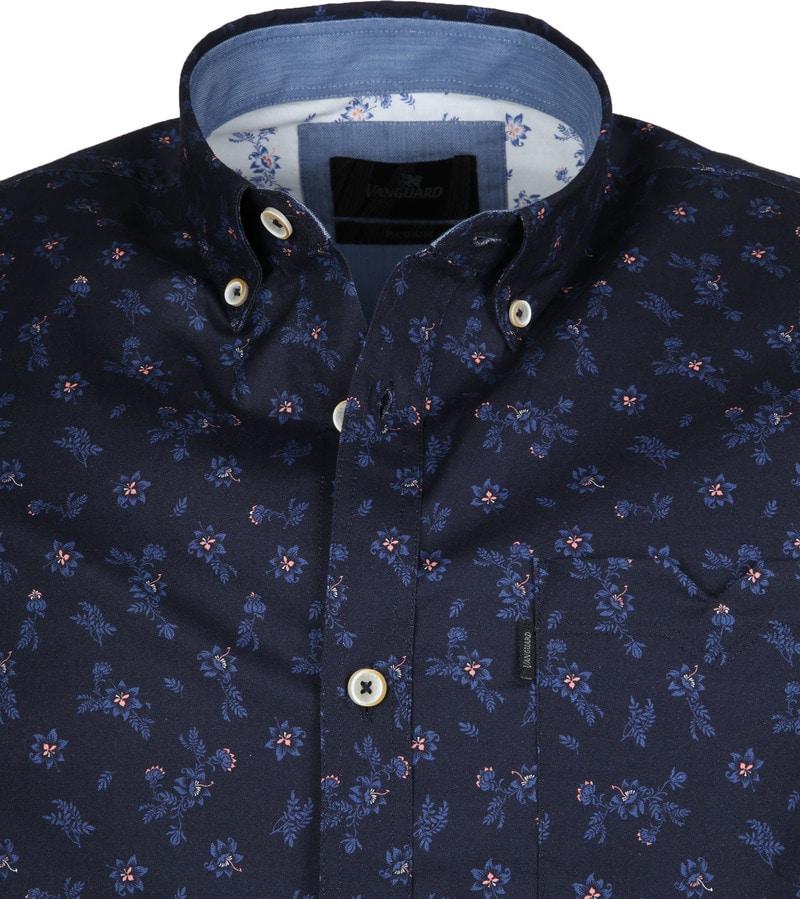 Vanguard Overhemd Bloemen Donkerblauw foto 1