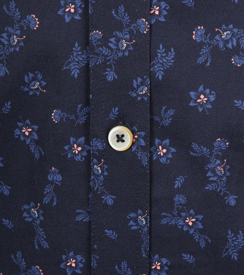 Vanguard Overhemd Bloemen Donkerblauw foto 2