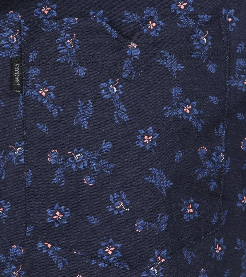 Vanguard Overhemd Bloemen Donkerblauw foto 3