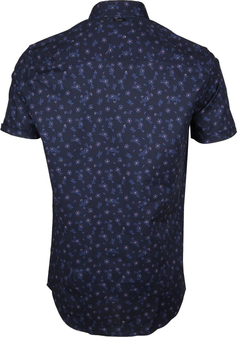 Vanguard Overhemd Bloemen Donkerblauw foto 4