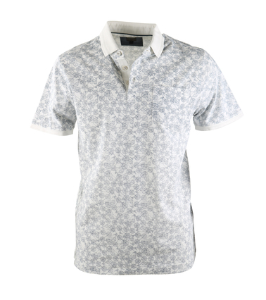 Vanguard Poloshirt Off White Print  online bestellen | Suitable