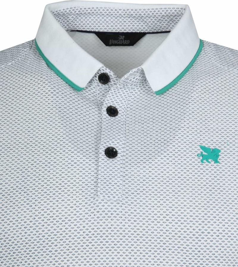 Vanguard Poloshirt Pique Design White photo 1