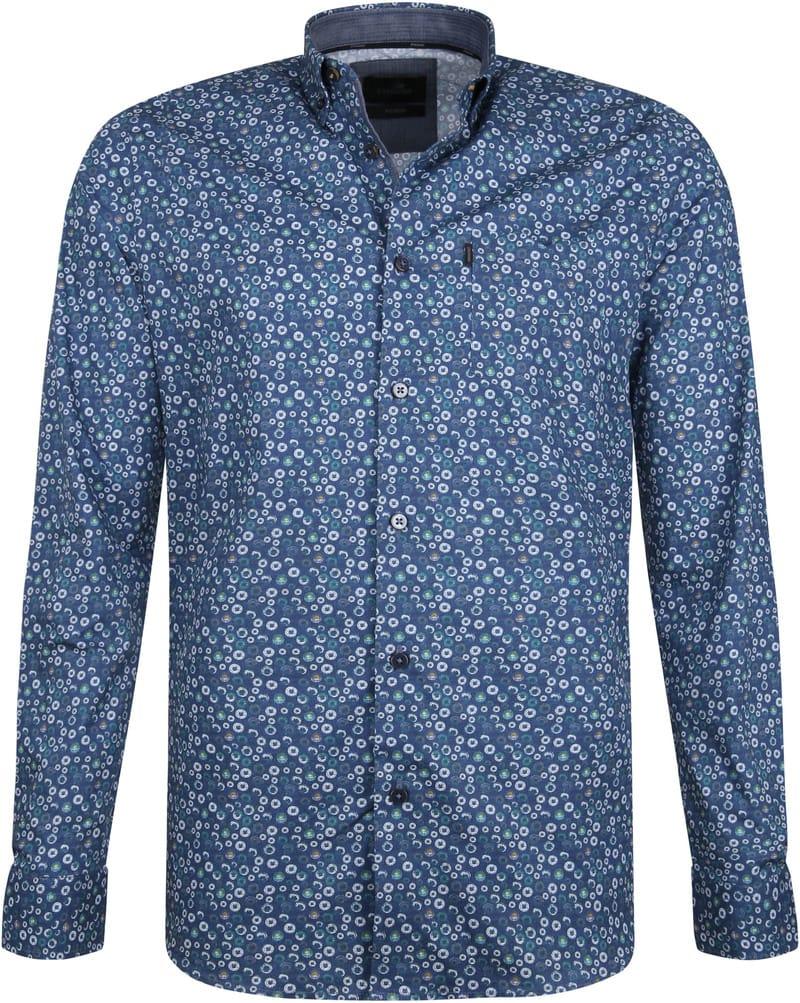Vanguard Print Overhemd Cirkels Blauw foto 0