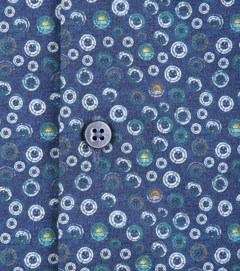 Vanguard Print Overhemd Cirkels Blauw foto 2
