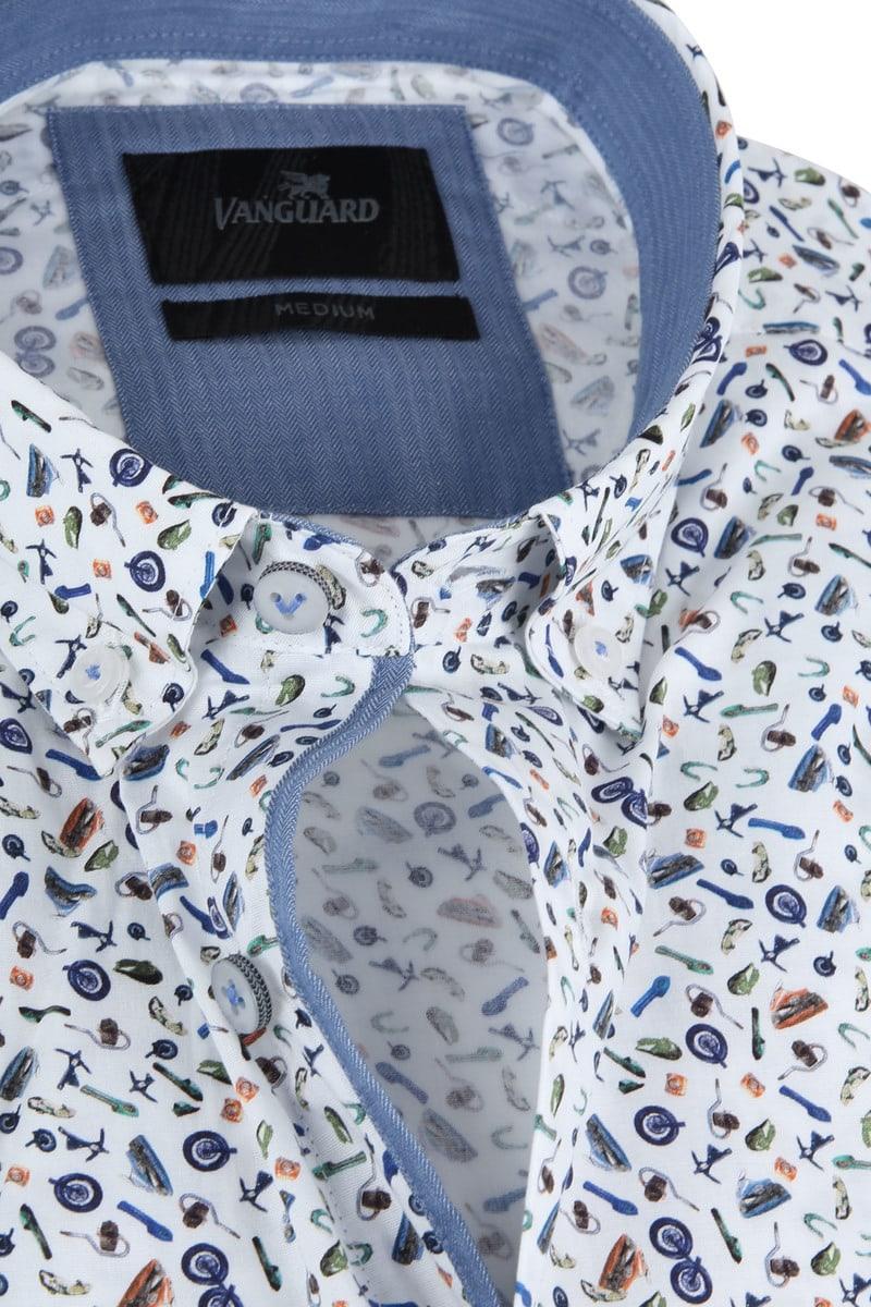 Vanguard Print Overhemd Motoronderdelen SS foto 1
