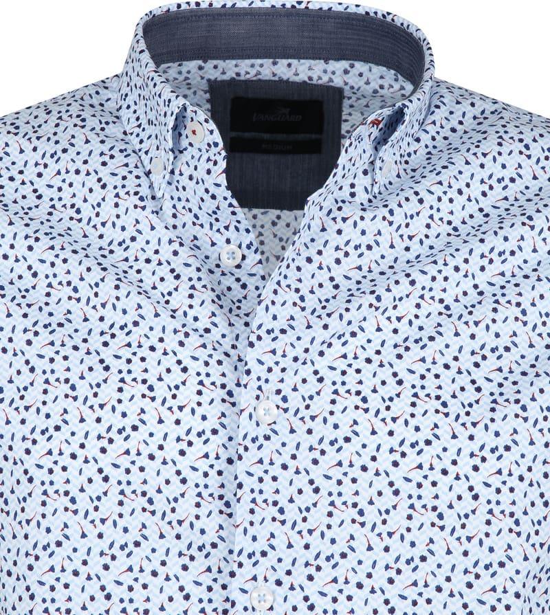 Vanguard Print Shirt Flowers Blue photo 1