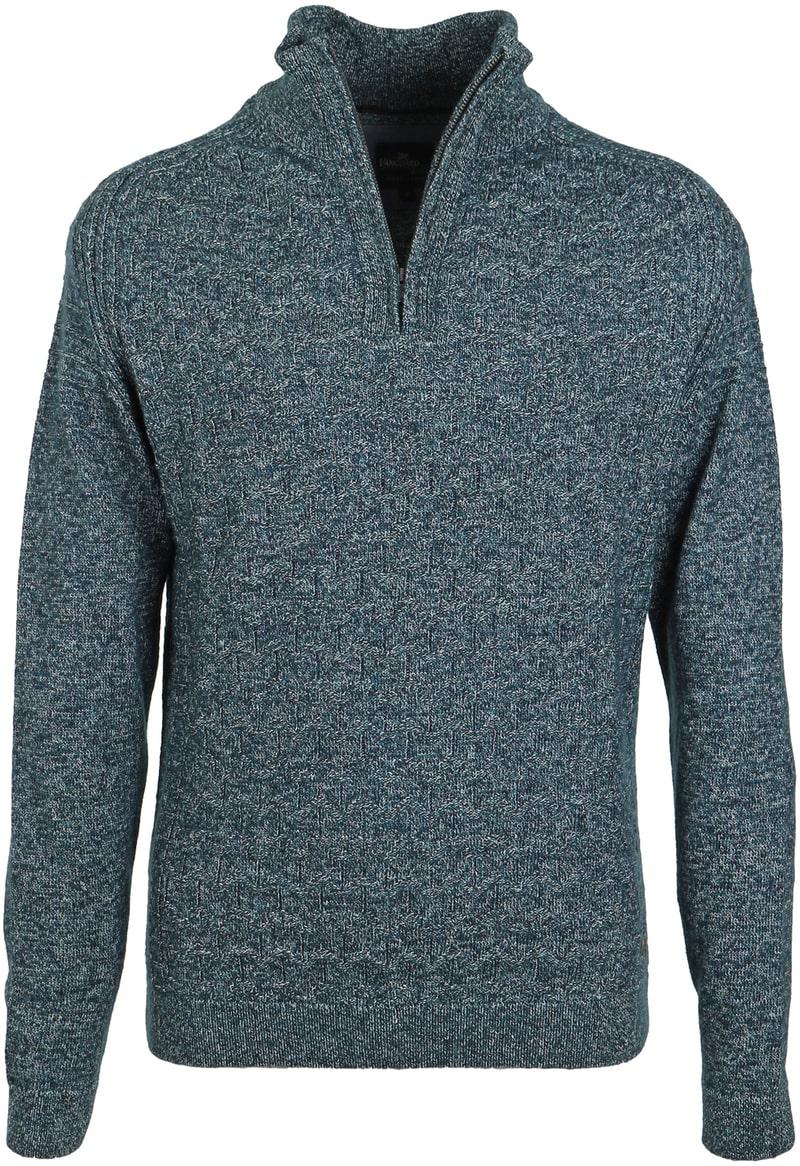 Vanguard Pullover Zipper Donkergroen  online bestellen | Suitable
