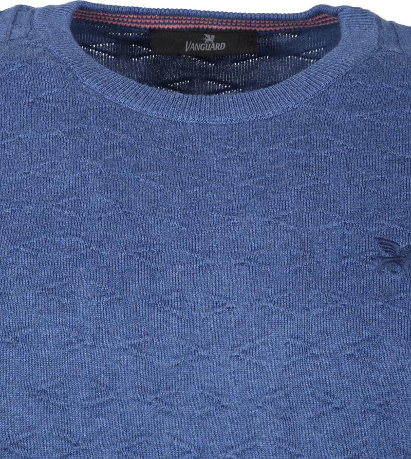 Vanguard R-Neck Pullover Blauw foto 1