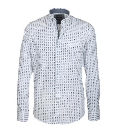 Vanguard Shirt Casual Wit Stippen  online bestellen | Suitable