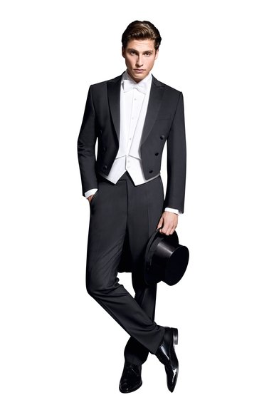 Wilvorst Tailcoat Black Wool photo 0