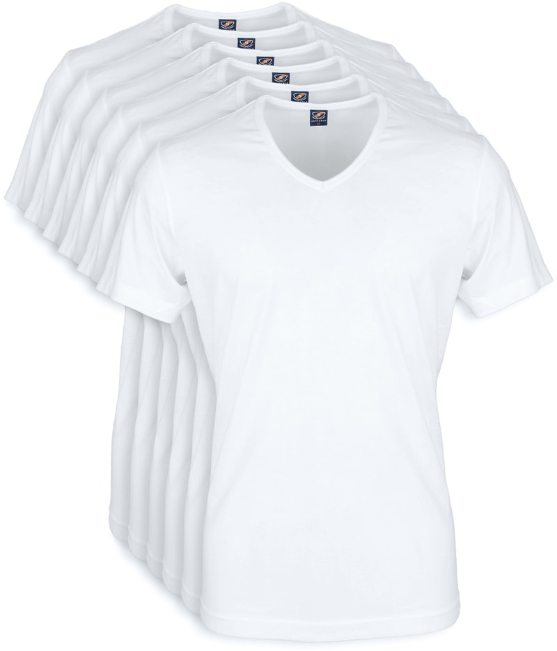Wit T-Shirt 6Pack V-neck foto 0