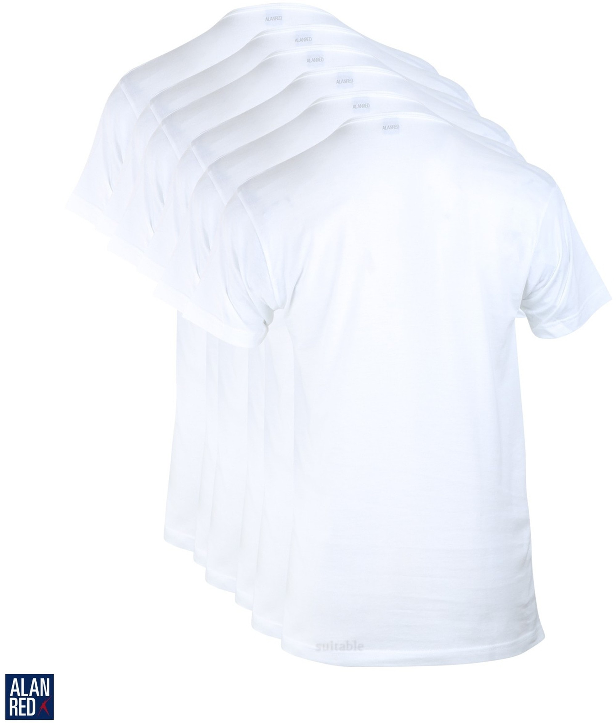 Alan Red Aanbieding Derby O-Hals T-shirts Wit (6Pack) foto 2