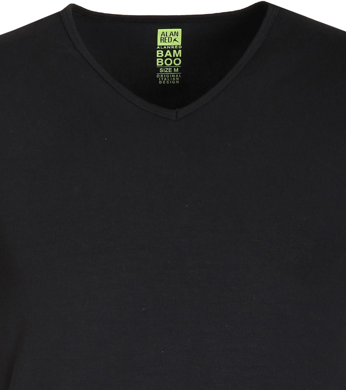 Alan Red Bamboo T-shirt Black foto 1