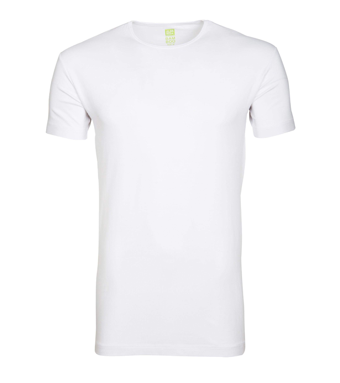 Alan Red Bamboo T-shirt O-Ausschnitt Weiß foto 0