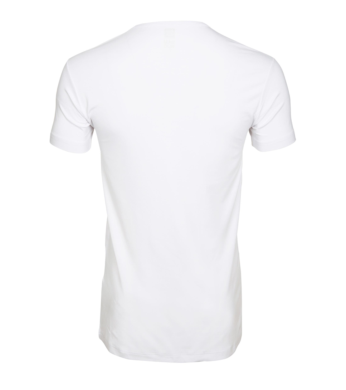 Alan Red Bamboo T-shirt V-Ausschnitt Weiß foto 1