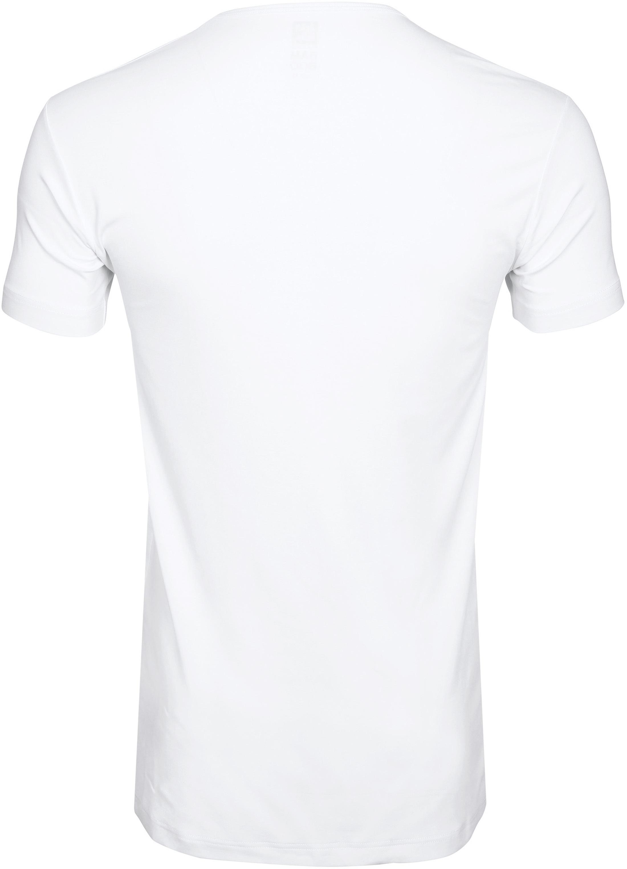 Alan Red Bamboo T-shirt V-Ausschnitt Weiß foto 2