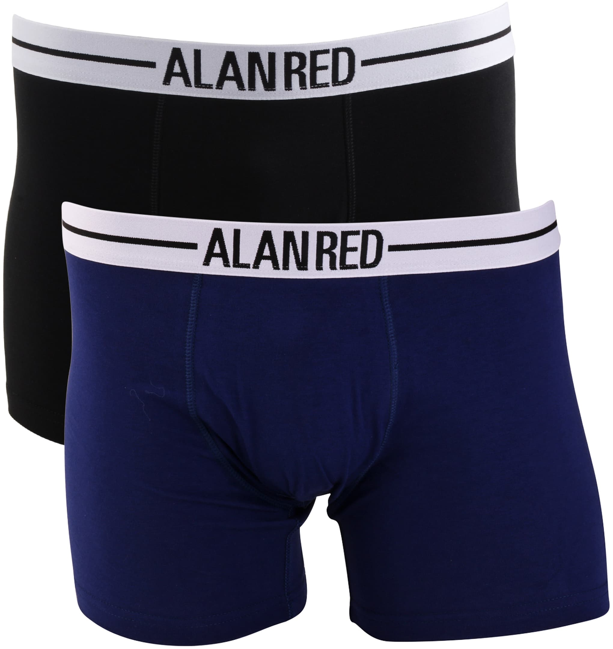 Alan Red Boxer Shirts Dark Blue 2-Pack foto 0