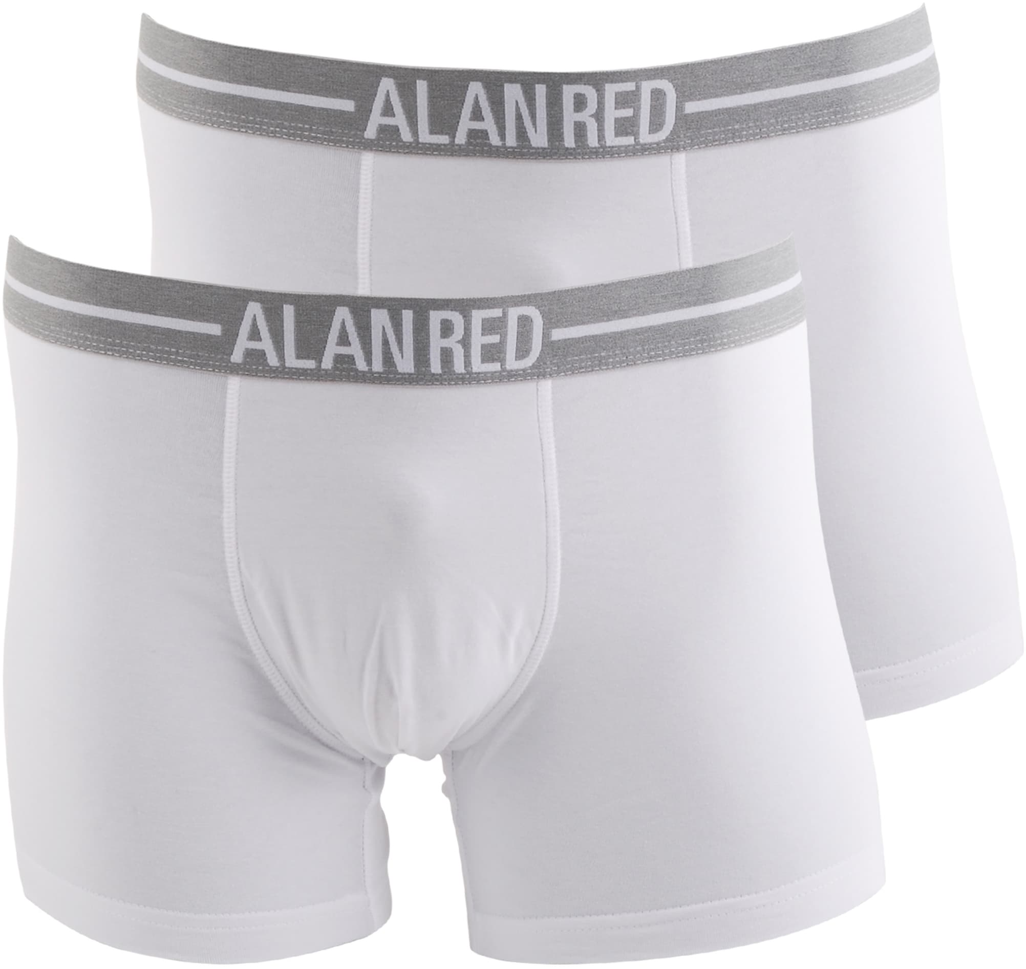 Alan Red Boxer Shirts White 2-Pack foto 0