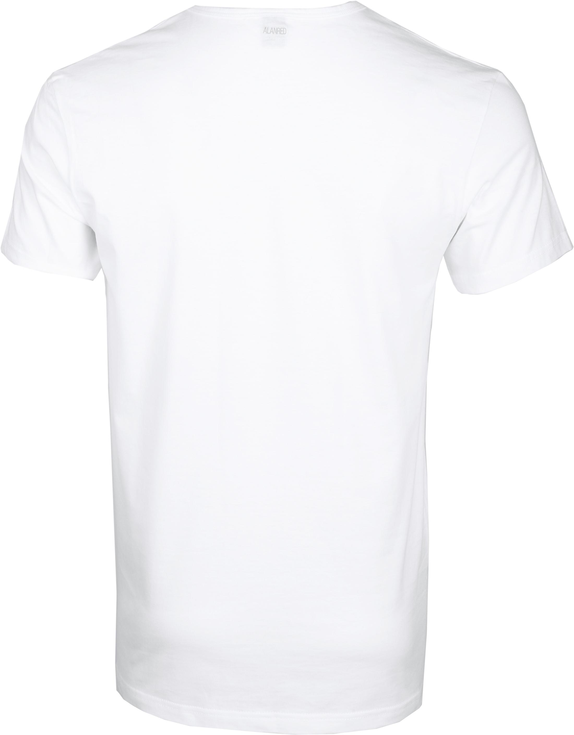 Alan Red Dean V-Hals T-Shirt Wit (2Pack) foto 1