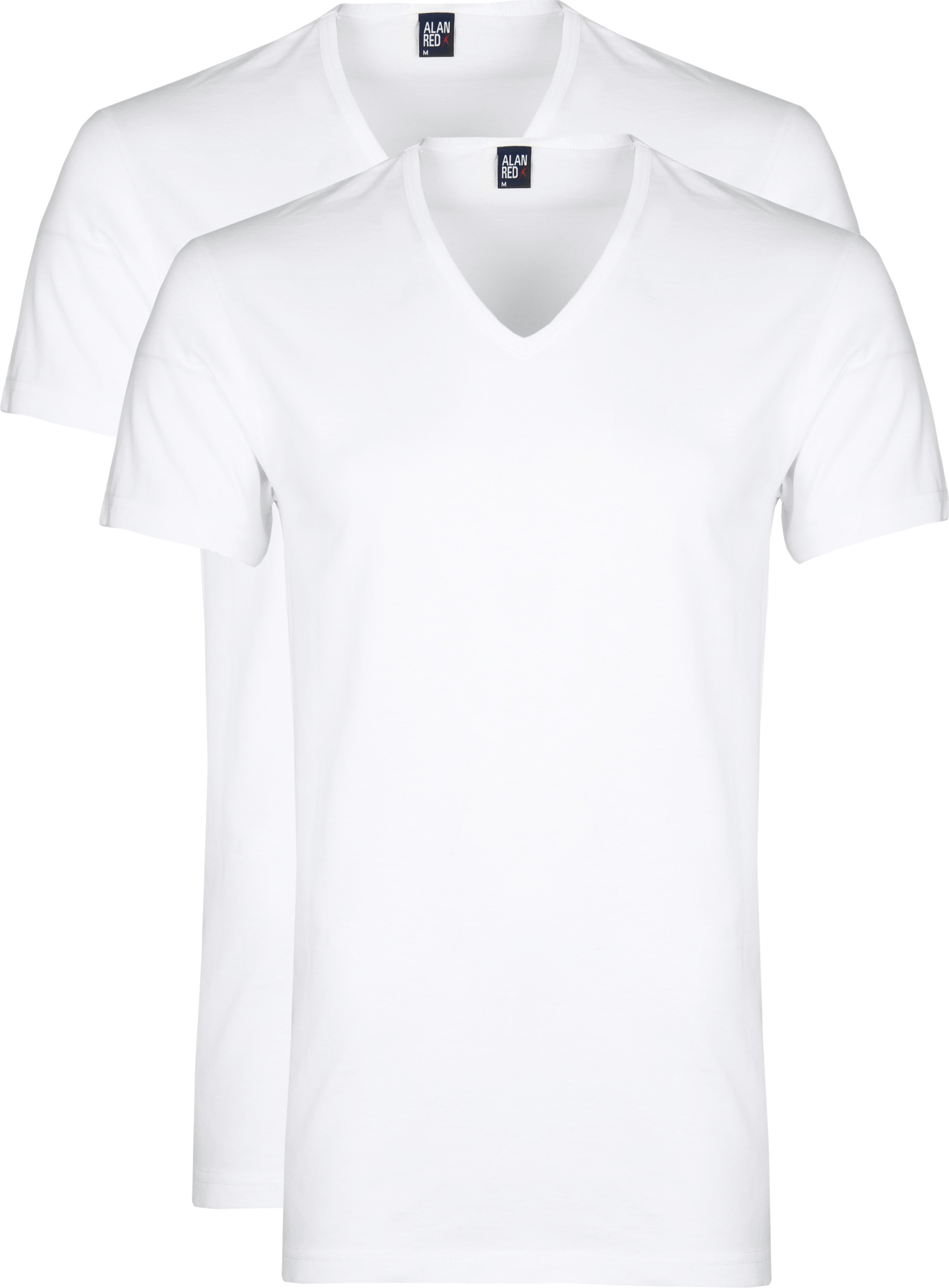 Alan Red Dean V-Neck T-shirt White 2-Pack foto 0