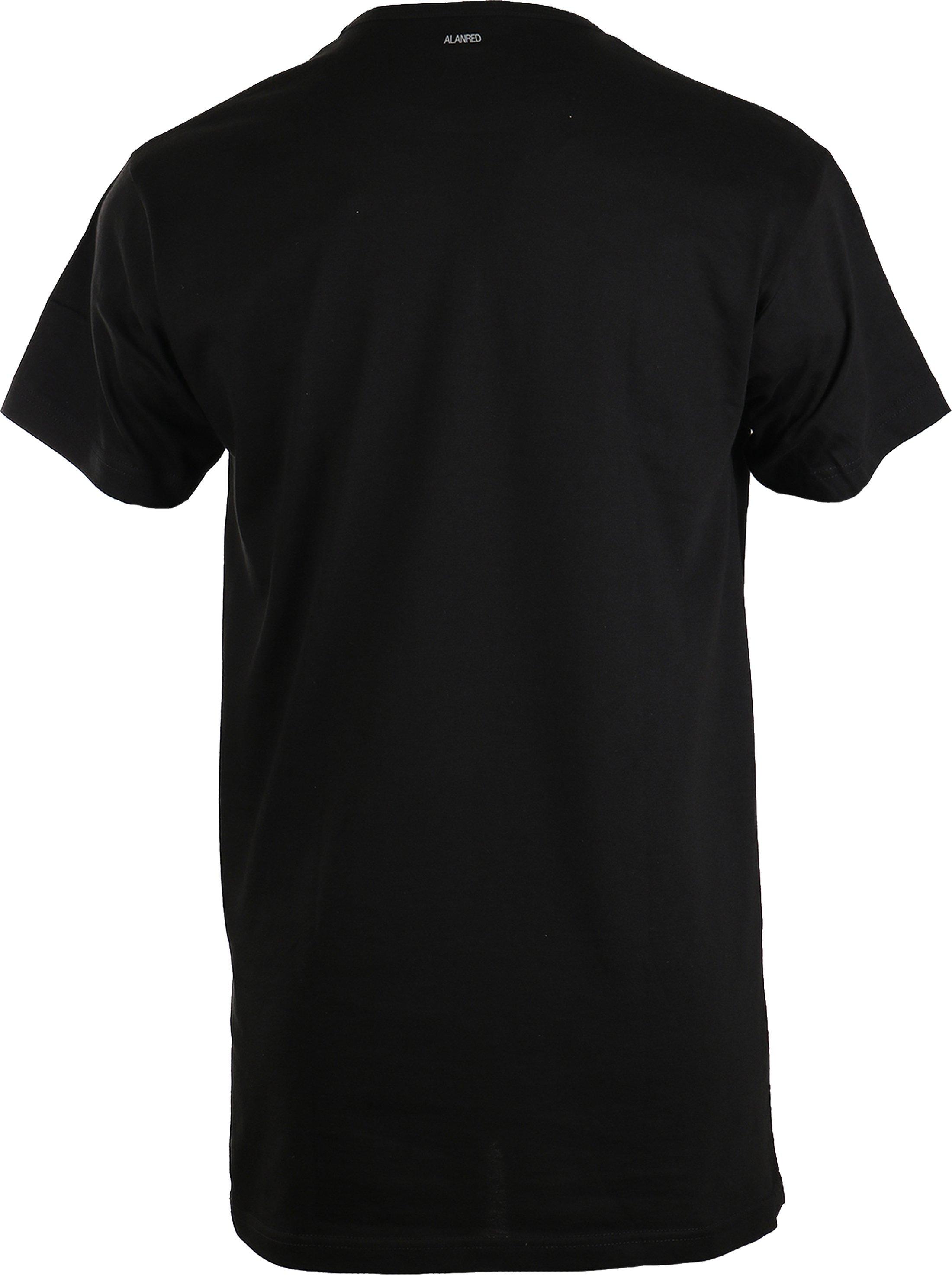 Alan Red Derby Extra Lang T-Shirt Zwart (1Pack) foto 1