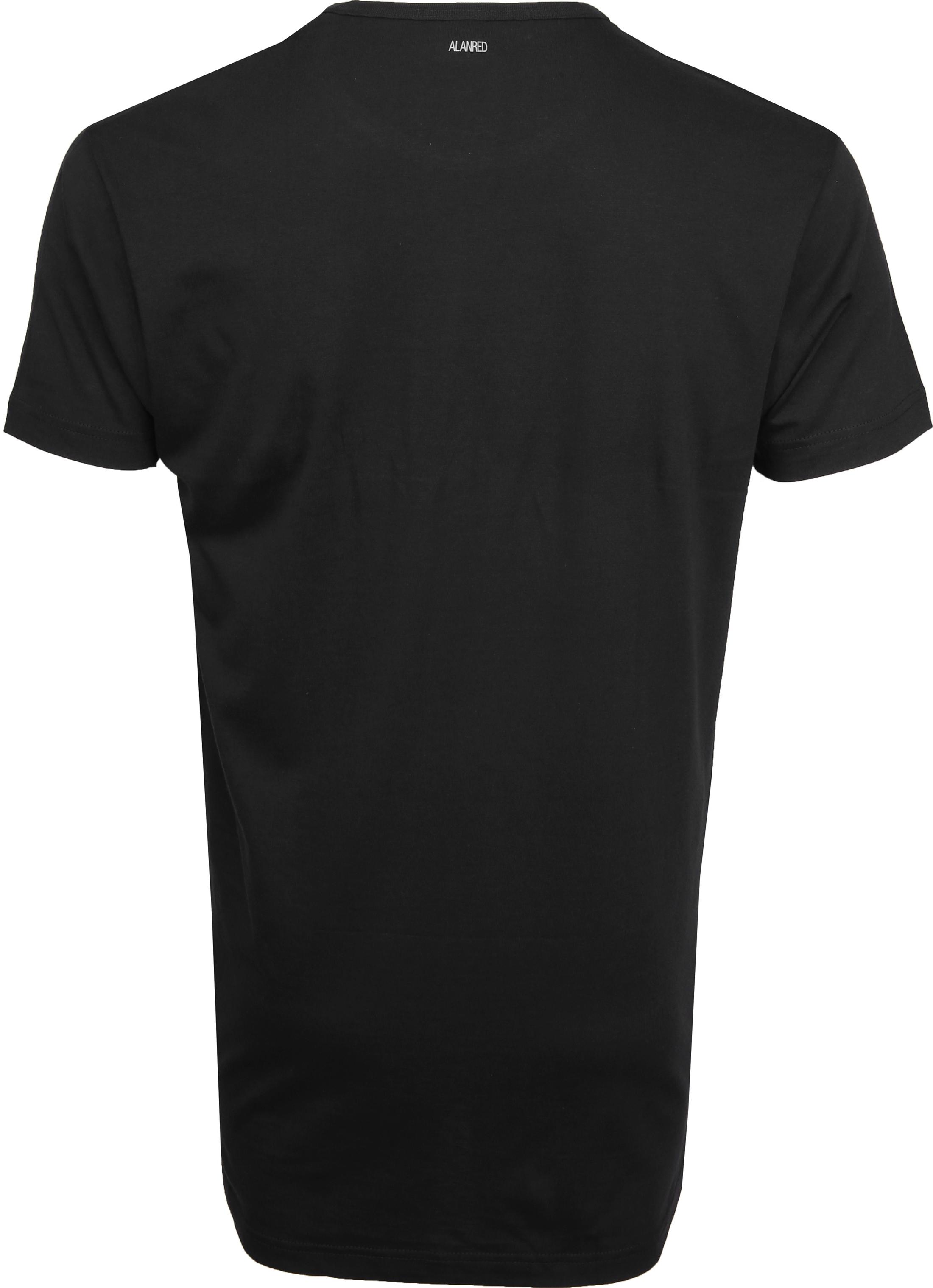 Alan Red Derby Extra Lang T-Shirt Zwart (2-Pack)