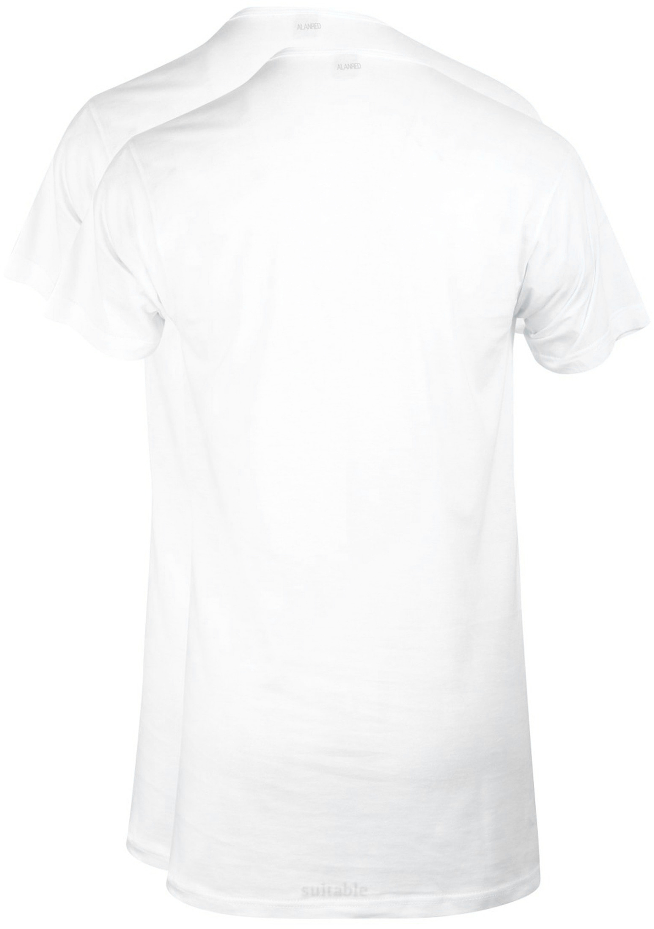 Alan Red Derby Extra Long T-shirt White 2-Pack foto 2