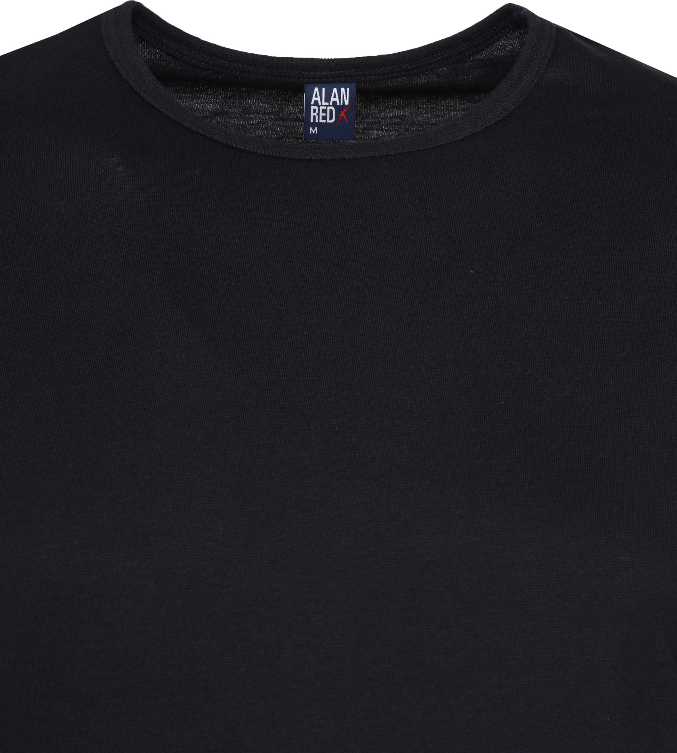 Alan Red Derby O-Ausschnitt T-Shirt Dunkelblau (2er-Pack) foto 2
