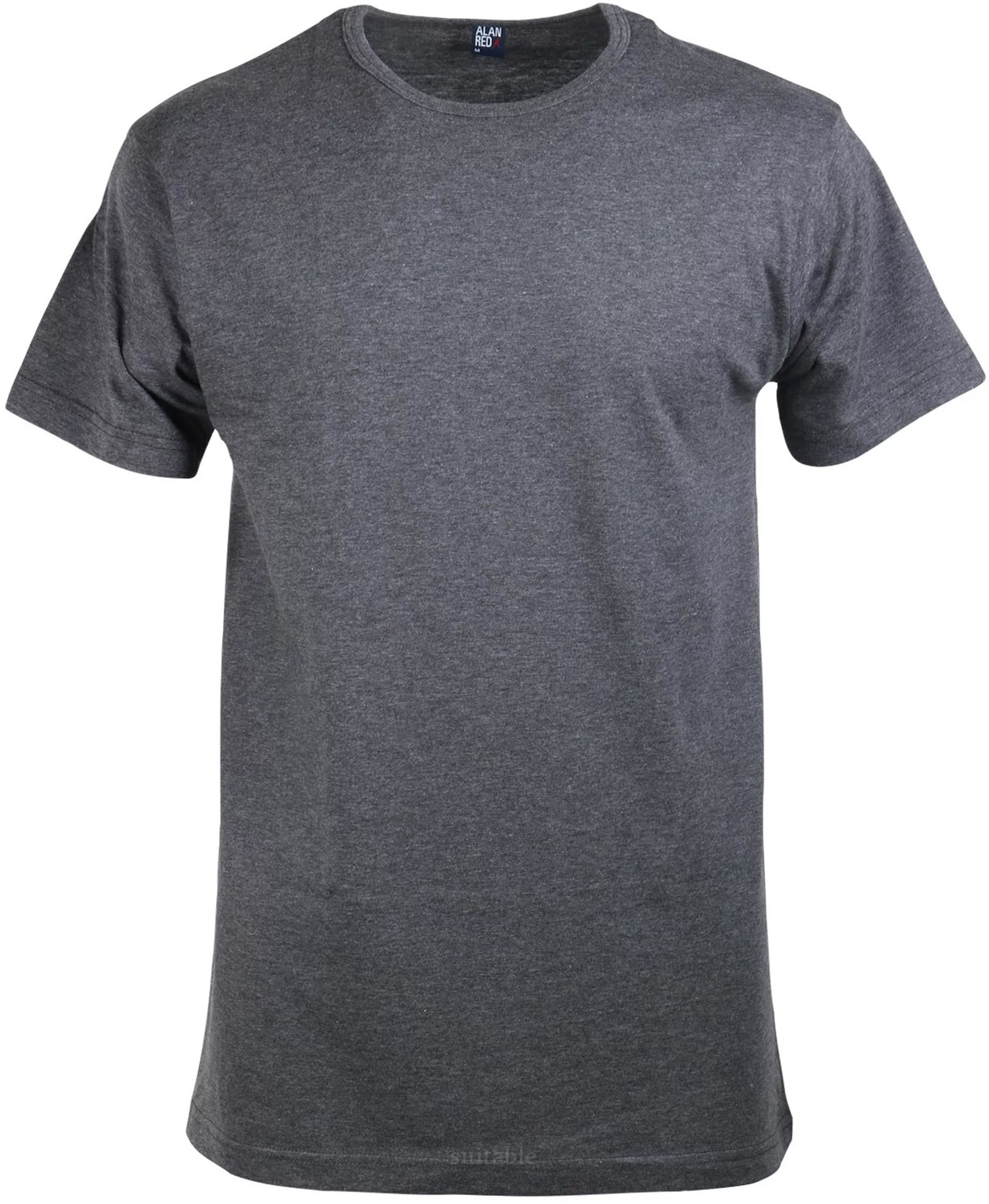 Alan Red Derby O-Hals T-Shirt Antraciet (1Pack) foto 0