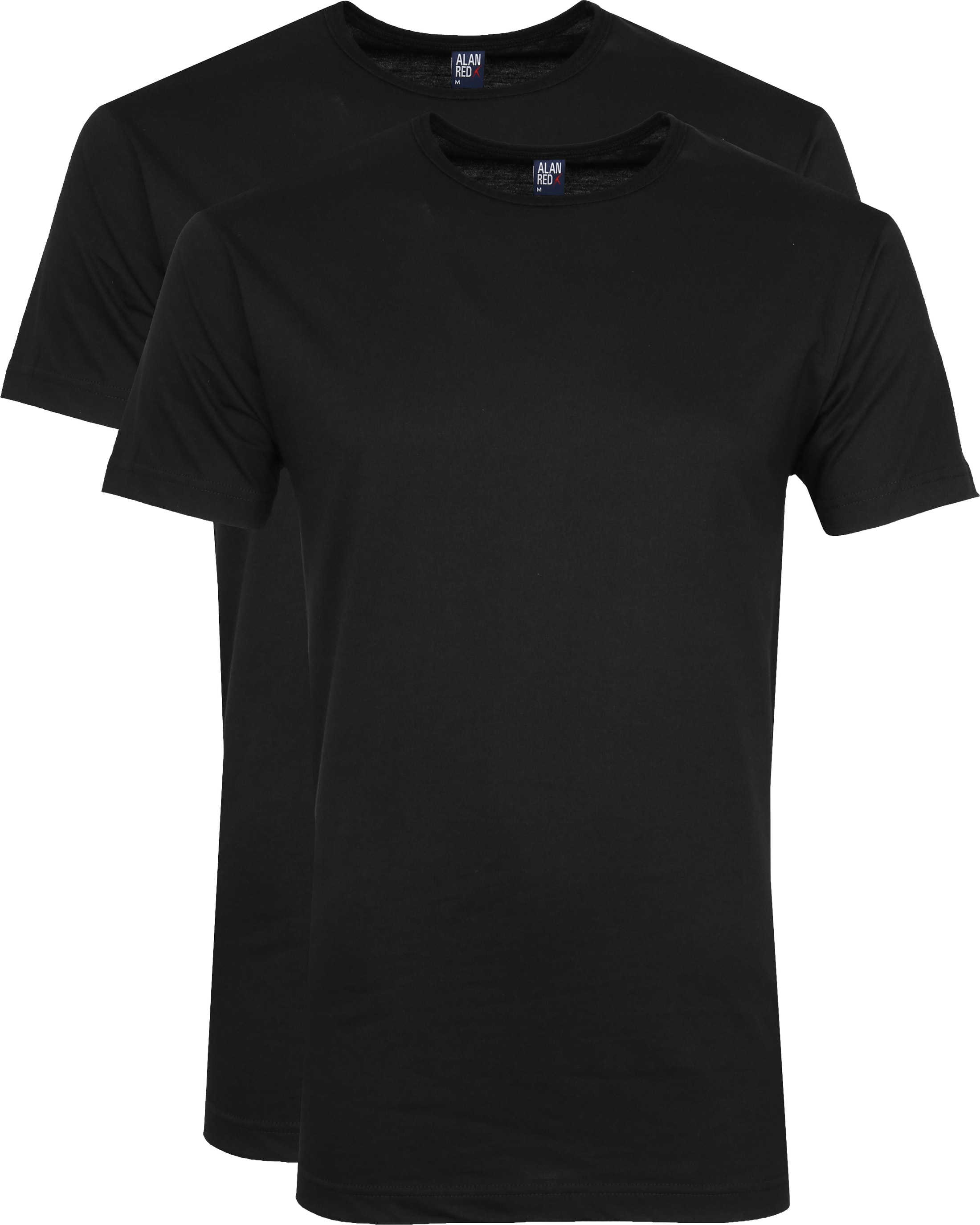 Alan Red Derby O-Hals T-Shirt Black (2Pack) foto 0