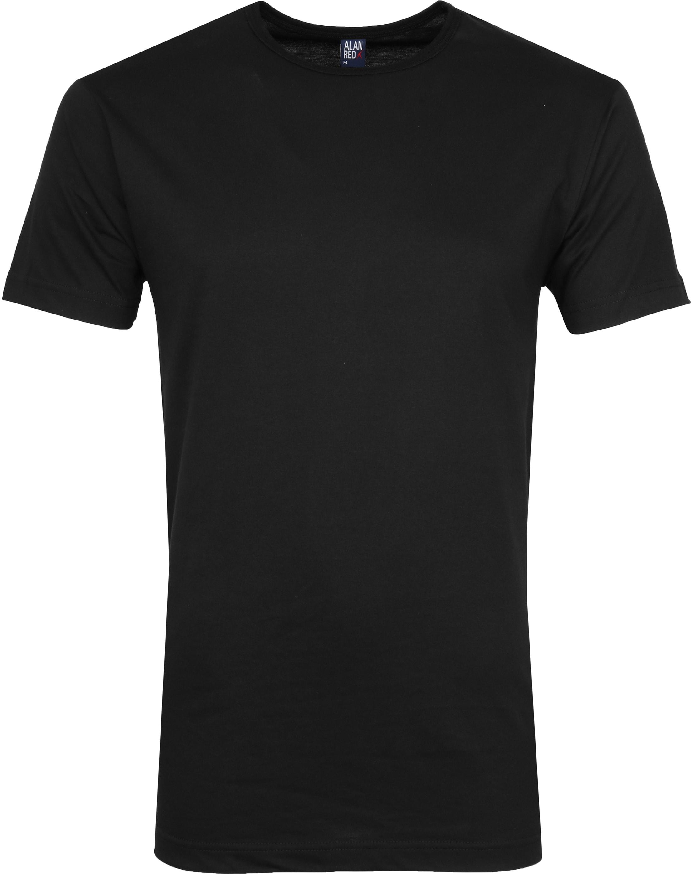 Alan Red Derby O-Hals T-Shirt Black (2Pack) foto 1