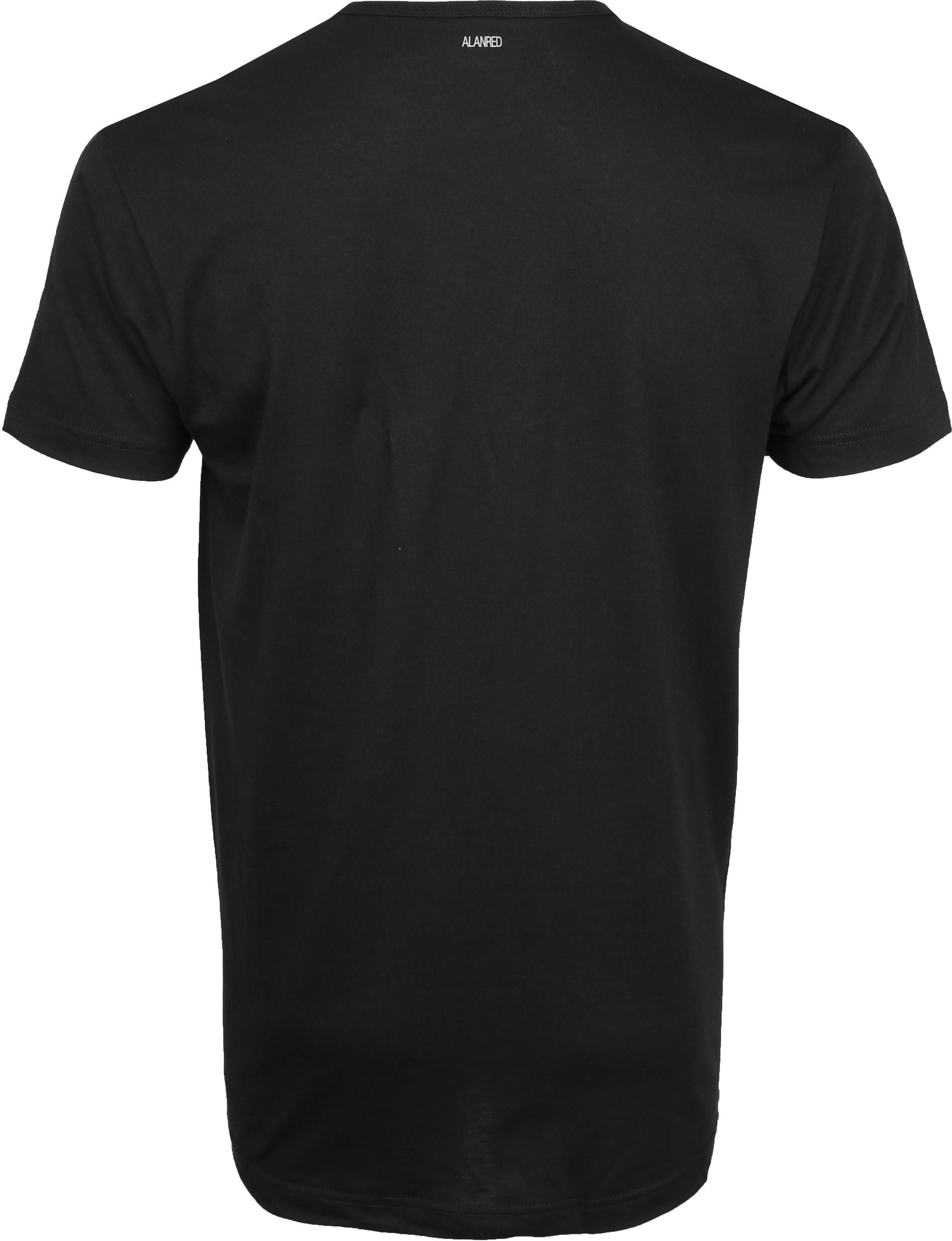 Alan Red Derby O-Hals T-Shirt Black (2Pack) foto 4
