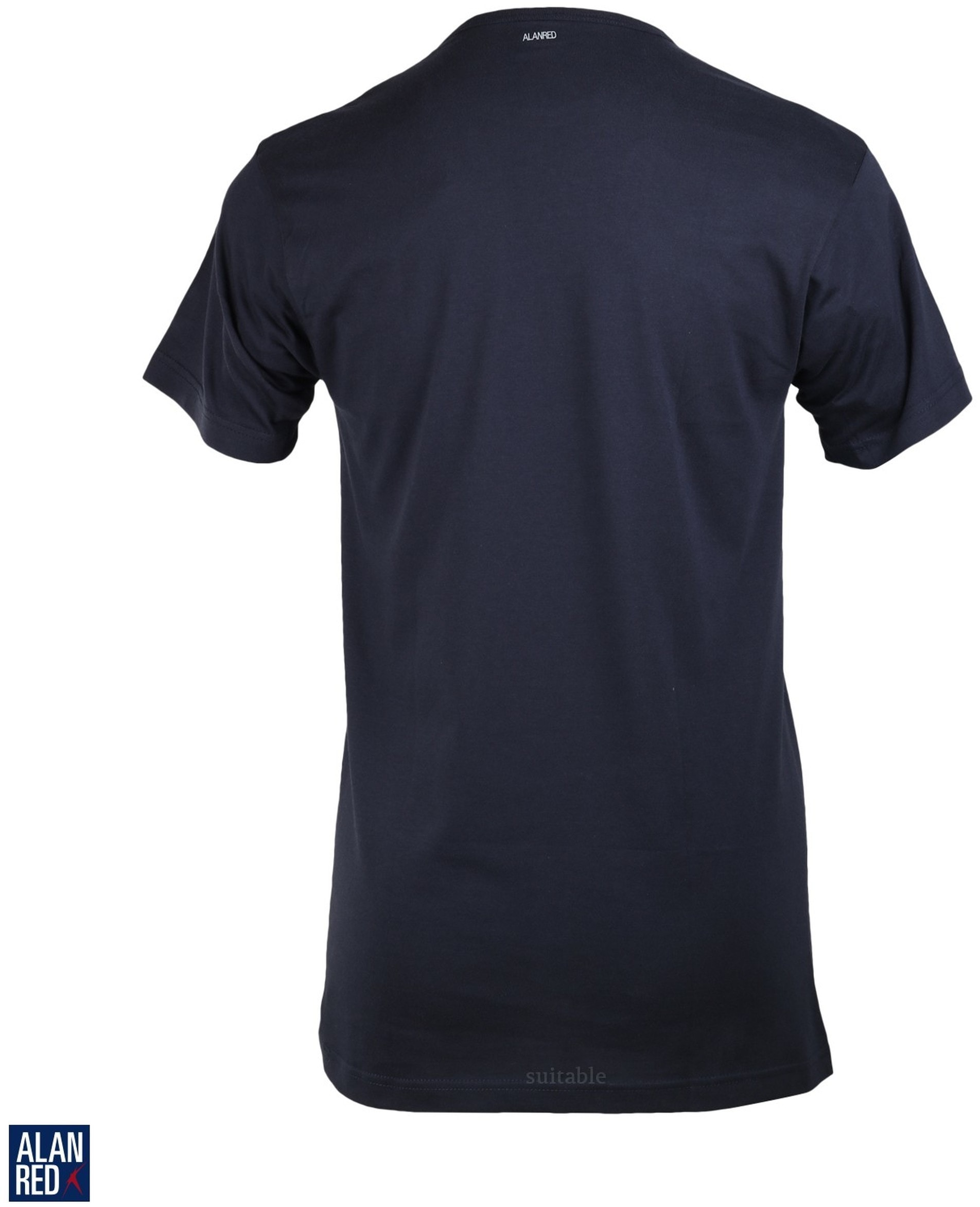 Alan Red Derby O-Hals T-Shirt Navy (1Pack) foto 2