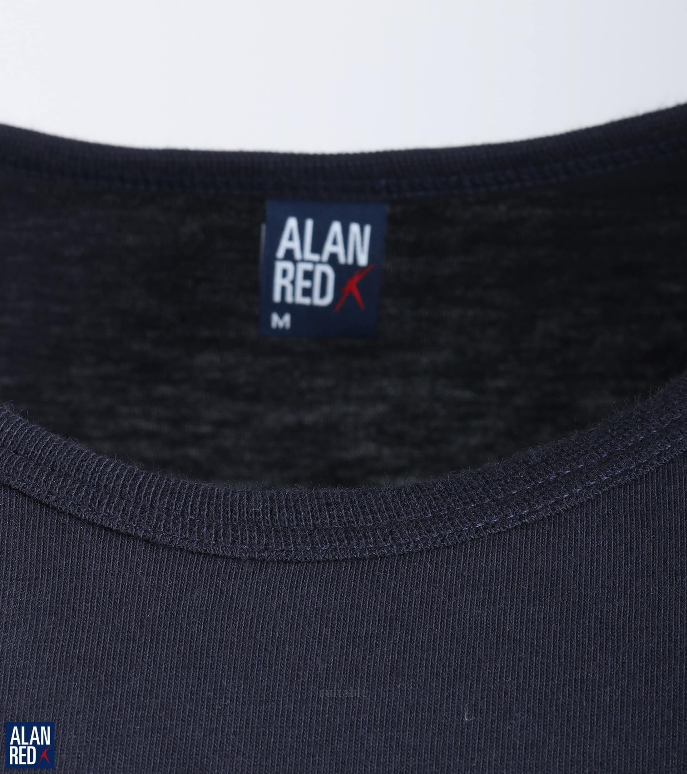 Alan Red Derby O-Hals T-Shirt Navy (1Pack) foto 1