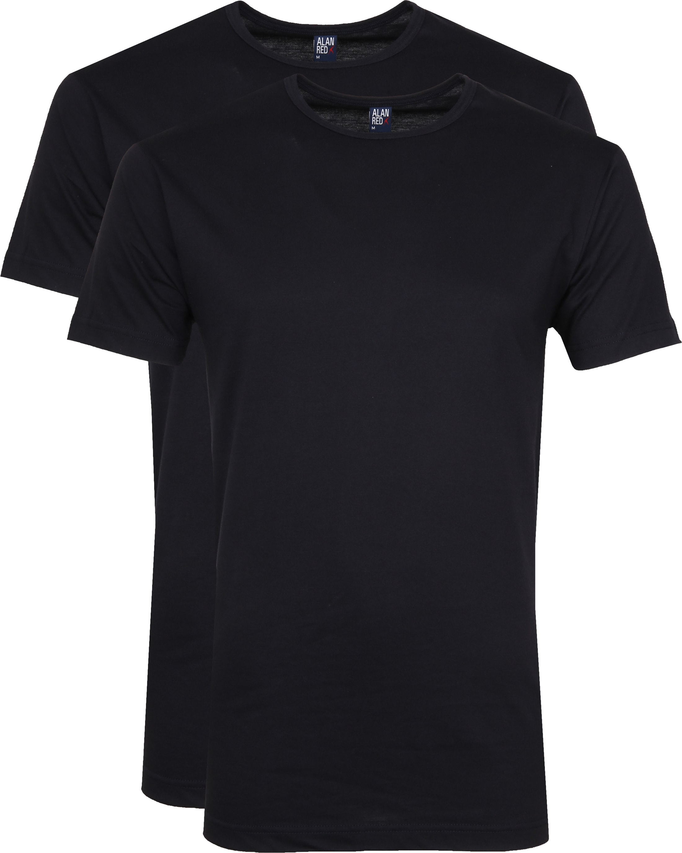 Alan Red Derby O-Hals T-Shirt Navy (2Pack) foto 0