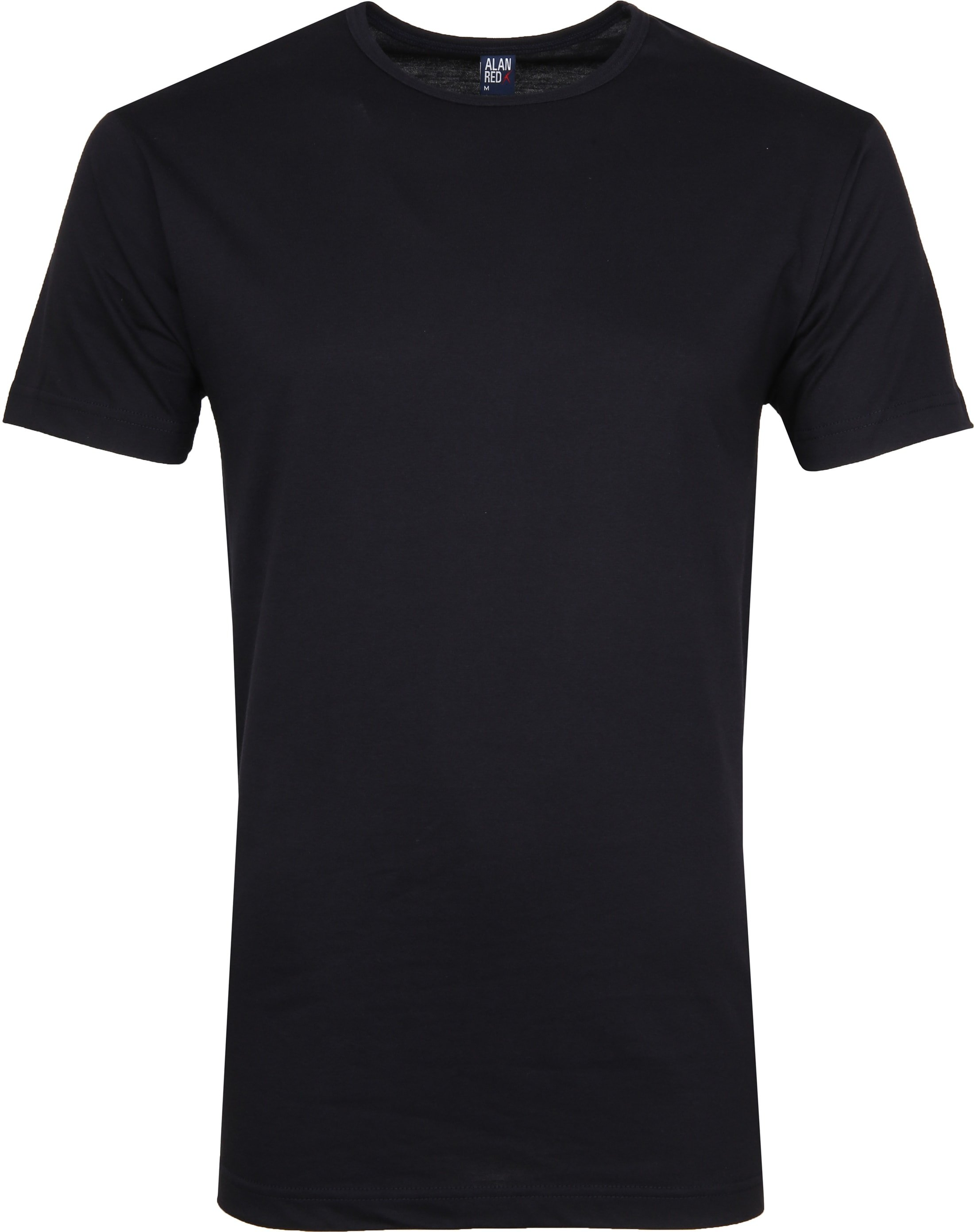 Alan Red Derby O-Hals T-Shirt Navy (2Pack) foto 1