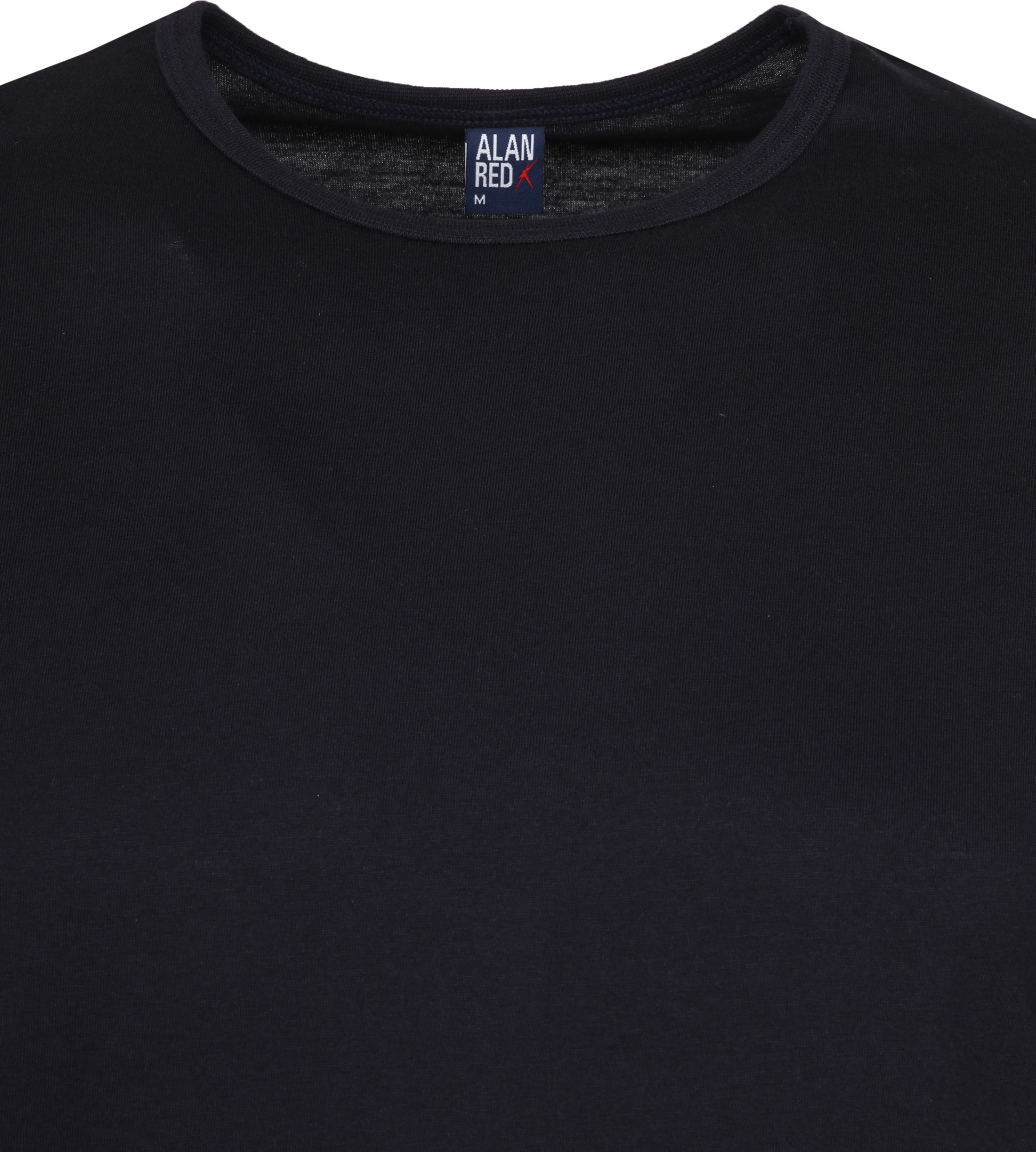 Alan Red Derby O-Hals T-Shirt Navy (2Pack) foto 2