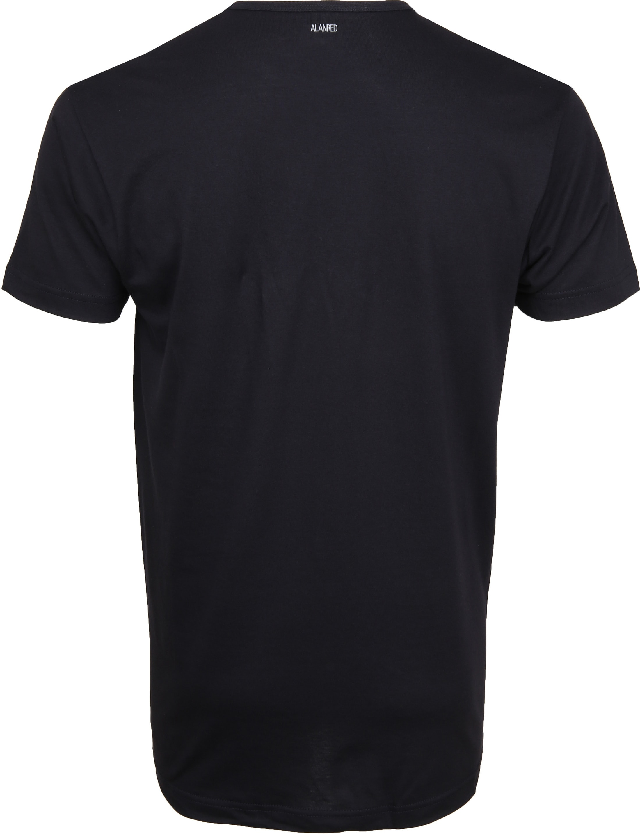 Alan Red Derby O-Hals T-Shirt Navy (2Pack) foto 4