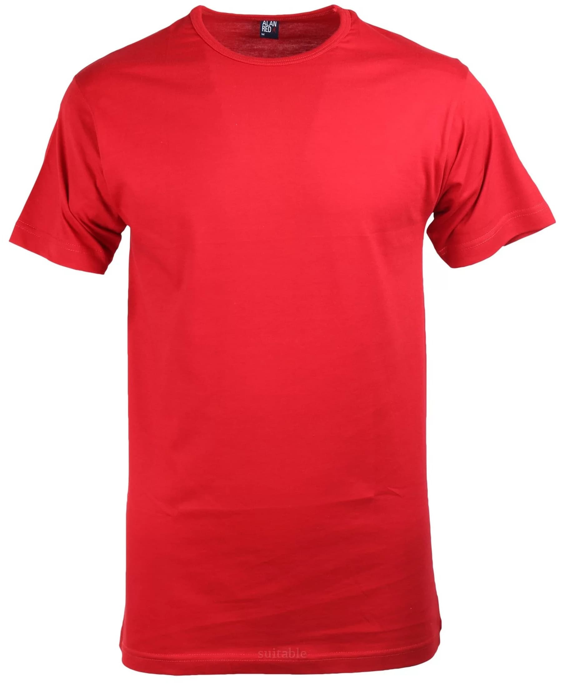Alan Red Derby O-Hals T-Shirt Stone Red (1Pack) foto 0