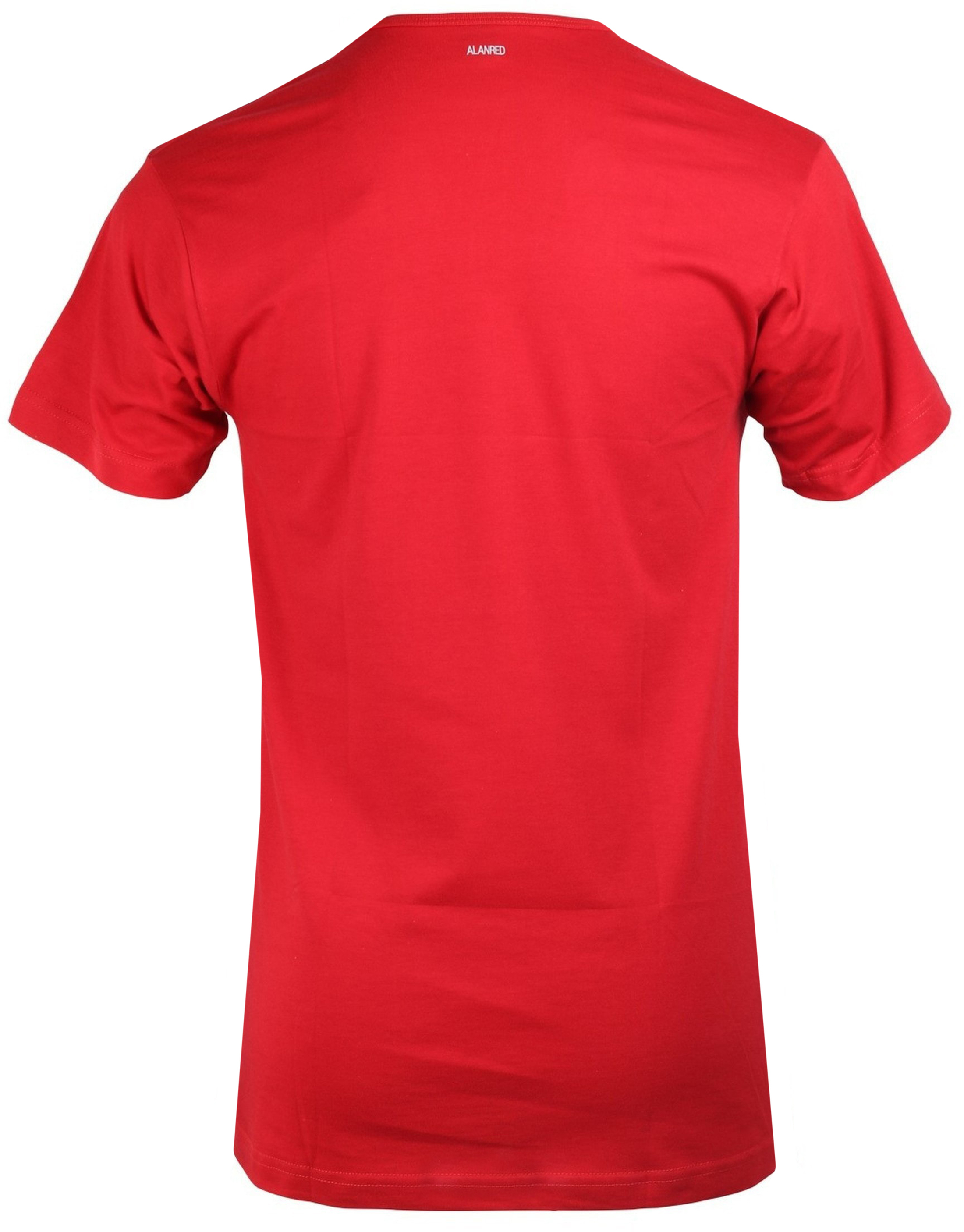 Alan Red Derby O-Hals T-Shirt Stone Red (1Pack) foto 2