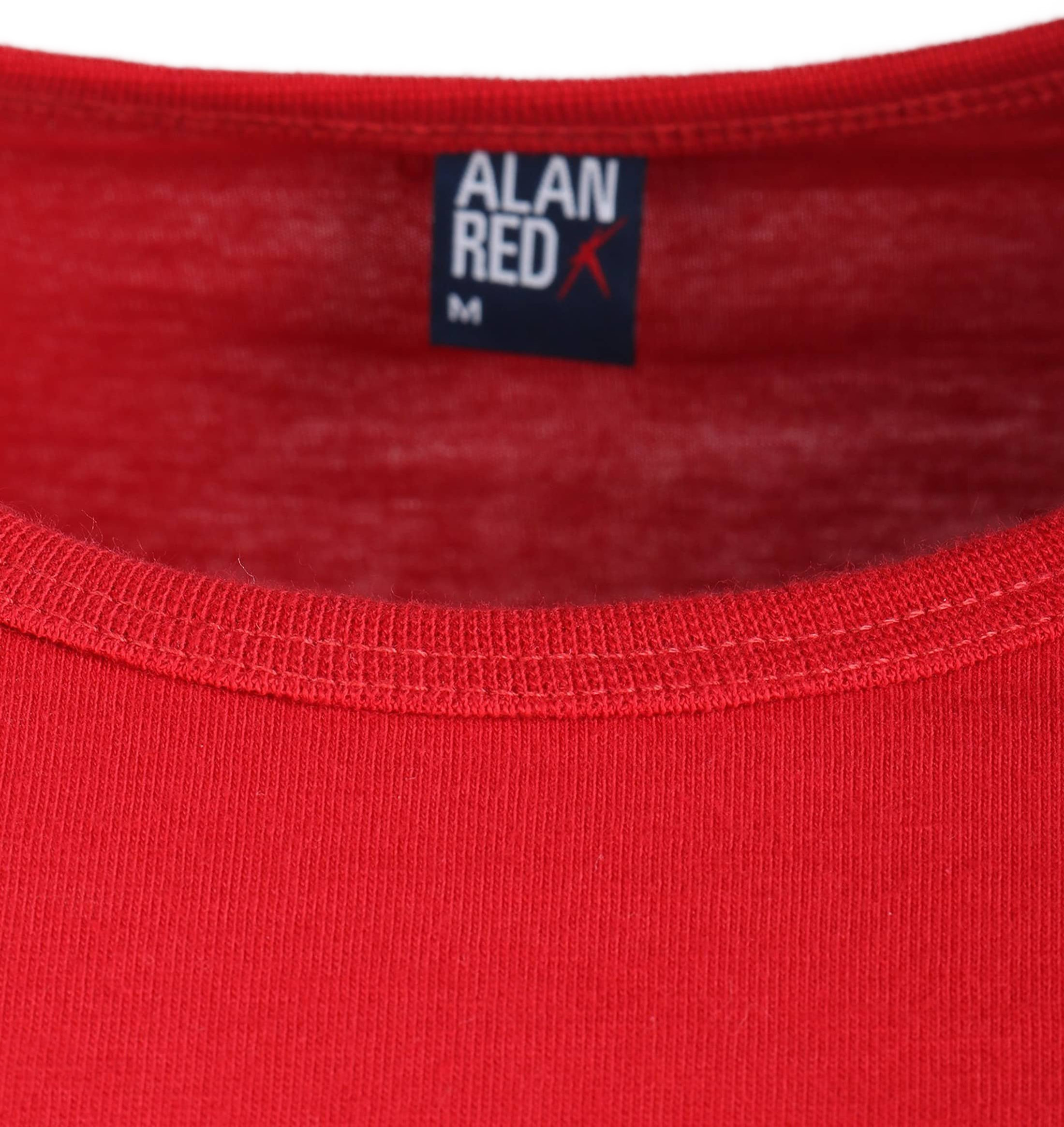 Alan Red Derby O-Hals T-Shirt Stone Red (1Pack) foto 1