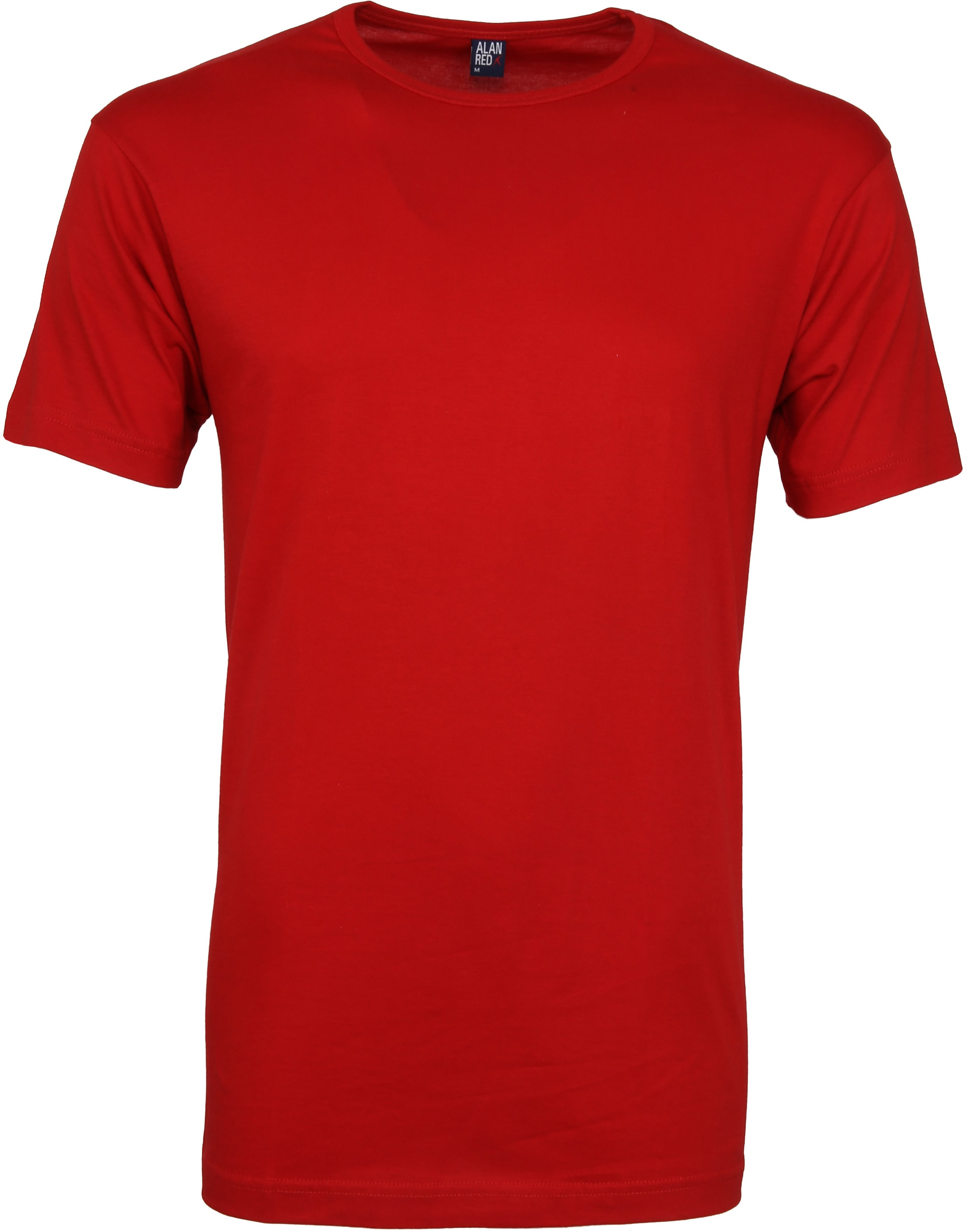 Alan Red Derby O-Hals T-Shirt Stone Red (2Pack) foto 1